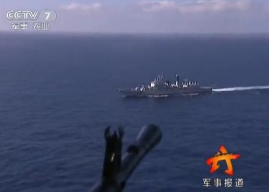 中美两国海军在亚丁湾举行首次反海盗联合演练